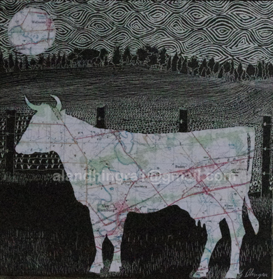 Thumb new hamburg cow 12x12